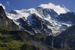 Coperchio di neve sul paesaggio della montagna Fotografie Stock