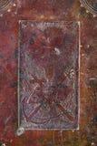 Coperchio di una bibbia antica di secolo XIX Fotografie Stock