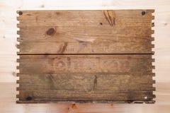 Coperchio di una scatola di legno di birra di Heineken fotografie stock libere da diritti