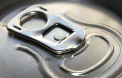 Coperchio metallico della latta Fotografia Stock Libera da Diritti
