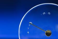 Coperchio vuoto dell'orologio con goccia Immagine Stock