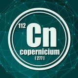 Copernicium chemisch element stock illustratie