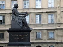 Copernicus memorial in Warsaw. Nicholas Copernicus memorial in Warsaw (Unveiled in 1830). One of 3 identical copies from the same mould (other 2 are in Montreal Stock Photos
