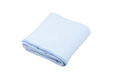 Coperta blu del panno morbido Fotografia Stock Libera da Diritti