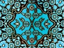 Coperta classica del tessuto floreale Fotografie Stock