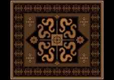Coperta d'annata in tonalità marroni e nere Immagini Stock Libere da Diritti
