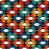 Coperta della trapunta di stile del nativo americano Stampa etnica luminosa con le forme geometriche Modello di superficie senza  royalty illustrazione gratis