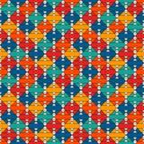 Coperta della trapunta di stile del nativo americano Stampa etnica luminosa con le forme geometriche Modello di superficie senza  illustrazione di stock
