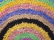 Coperta intrecciata multicolore Immagini Stock Libere da Diritti