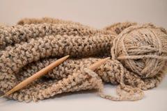 Coperta lavorata a maglia del filato Immagine Stock Libera da Diritti