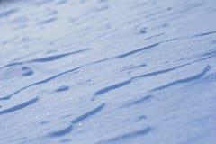 Coperta luccicante blu della neve Fotografie Stock Libere da Diritti