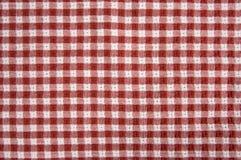 Coperta rossa e bianca di picnic Fotografia Stock