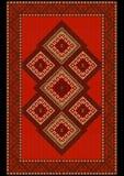 Coperta rossa etnica lussuosa d'annata Fotografie Stock Libere da Diritti