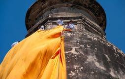 Coperta tradizionale a Wat Yai Chaimongkol fotografie stock