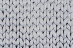 Coperta tricottata Gray da lana merino Immagine Stock Libera da Diritti