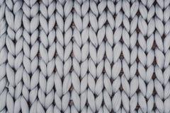 Coperta tricottata Gray da lana merino Immagine Stock