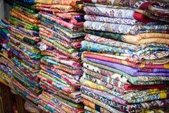 Coperte marocchine variopinte Fotografia Stock Libera da Diritti