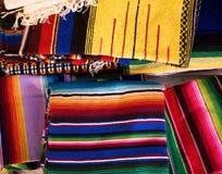 Coperte messicane variopinte Immagini Stock Libere da Diritti