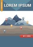 Copertina della rivista, dell'opuscolo o di libro di scienza di geologia Immagini Stock