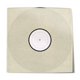 Copertina di disco in bianco del vinile fotografie stock
