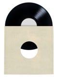 Copertina di disco in bianco del vinile fotografia stock libera da diritti