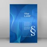 Copertina di formato A4 del modello di presentazione di stile di affari di legge Immagini Stock