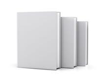 Copertina di libro bianco in bianco Fotografia Stock