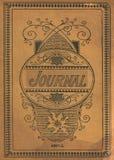 Copertina di libro d'annata antica del giornale del diario Immagini Stock Libere da Diritti