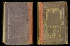 Copertina di libro d'annata antica del giornale del diario Fotografie Stock Libere da Diritti
