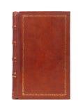 Copertina di libro d'annata rilegata del cuoio Fotografie Stock Libere da Diritti
