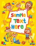 Copertina di libro dei bambini Modello per l'opuscolo di pubblicità Immagine Stock Libera da Diritti