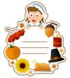 Copertina di libro della ragazza di ringraziamento Immagini Stock