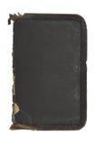Copertina di libro di cuoio approssimativa all'interno stracciata e vecchia Fotografie Stock Libere da Diritti