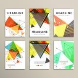 Copertina di libro leggera Composizione astratta di vettore dei triangoli per la stampa dei libri, opuscoli, opuscoli illustrazione di stock