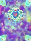 Copertina di libro magica di fantasia Fotografia Stock
