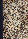 Copertina di libro marmorizzata oggetto d'antiquariato Fotografie Stock