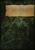 Copertina di libro misteriosa - verde Immagine Stock
