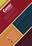 Copertina di libro nel fondo materiale di progettazione Fotografie Stock Libere da Diritti