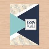Copertina di libro pulita moderna, libretto, manifesto, aletta di filatoio, opuscolo, profilo aziendale, modello della disposizio illustrazione di stock