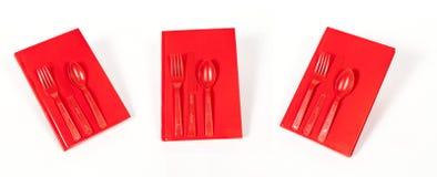 Copertina di libro rossa Fotografia Stock