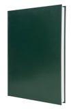 Copertina di libro verde in bianco della libro con copertina rigida Fotografie Stock