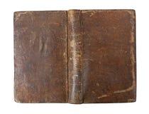 Copertina di vecchio libro isolata fotografia stock