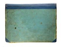 Copertina di vecchio libro isolata su bianco Fotografie Stock