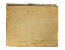 Copertina di vecchio libro isolata su bianco Fotografia Stock Libera da Diritti