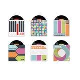Copertine di disco Fotografia Stock