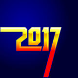 copertura del calendario da 2017 nuovi anni, illustrazione tipografica di vettore Fotografia Stock Libera da Diritti