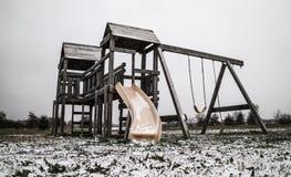 Copertura del campo da giuoco da neve Immagini Stock Libere da Diritti
