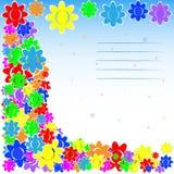 Copertura del fiore, carta Fotografia Stock