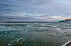 Copertura del ghiaccio del mare Glaciale Artico. Fotografia Stock