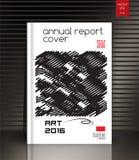 Copertura del rapporto annuale per la società ambientale, l'energia e Fotografia Stock